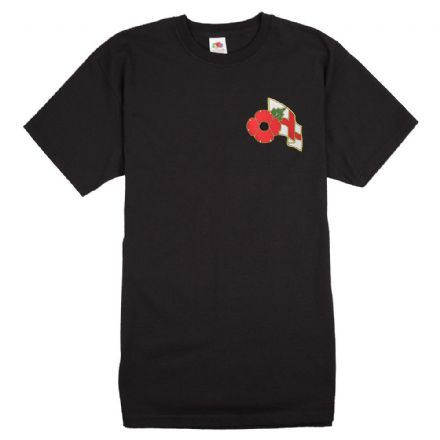 Poppy T-shirt with England Flag           .